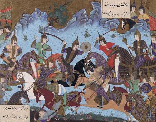 Sukhra defeating the Hephthalites